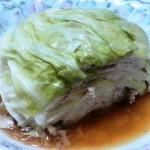 キャベツと豚肉のレンジ蒸しサラダ1